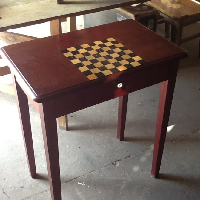 Skakbord rødt